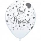 Just Married Hochzeit Ballons - 8 Stück