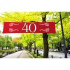 40 aniversario de la bandera Ruby - 180x40cm