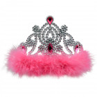 Crown with Pink Fur Collar