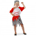 Pirate Suit Girl 3-piece Child Size S - 98-116