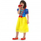Princess Dress Snow White Girls - Child Size M