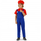 Super Plumber Red Costume Child size M - 116-1