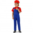 Super Plumber Red Costume Child Size L - 134-1