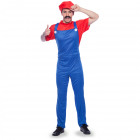Super Plumber Red Costume Men L-XL