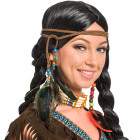 Indians hair band with feathers and beads