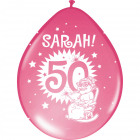50 Years of Sarah Balloons Birthday party - 8 piec