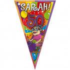 50 Jaar Sarah Knalfeest Mega Vlag 100x150