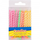 Candles candy stick colors - 24 pieces