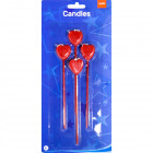 Candleset Hearts - 4 pieces