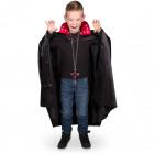 Black vampire cape with LED collar - child