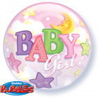 22in Bubble Baby Girl Hold Csillag / 1