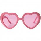 Gafas de color rosa corazones