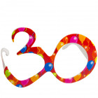 Party Age Glasses Red 30
