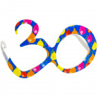 Party Age Glasses Blue 30