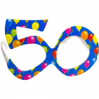 Party Age Glasses Blue 50