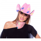 Cowboyhat rosa Lippen