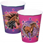 Horse cups 250ml - 8 pieces