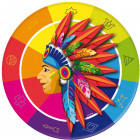 Indians Party plate - 8 pieces