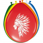 Indians Party Balloons - 8 pieces