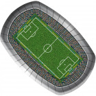 Football plate stadium - 8 pieces