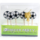 Football Candle set - 6 pieces