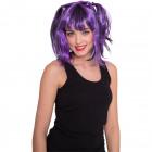 Purple manga wig with tails