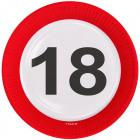 18 Año carretera plato - 8 piezas
