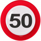 50 years Traffic sign plate - 8 pieces
