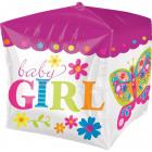 Cubez Baby Girl Foil Balloon - 38cm