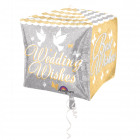 Cubez Wedding Wishes Bruiloft Folieballon - 38cm