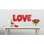 Romantic Foil Balloons Set LOVE