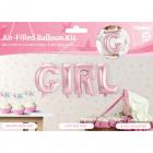 Baby Pink Foil Balloons Set GIRL