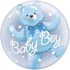 Baby Boy Bear Bubbles Balloon 61m