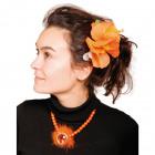 Hawai Haarclip Bloemen Oranje