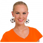 Earrings play football black and white