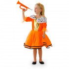 Orange Princess Dress Girls M - 116-134