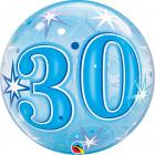 30 Jaar Bubbles Ballon Blauw 56cm