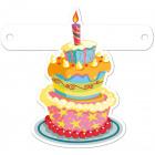 Banner letter birthday cake