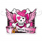 Pink Pirate Girl Banner Letter