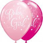 Kislány ballonok 28cm - 25 db