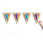 1 Year Flag line Birthday Blocks - 6 meters