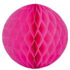 Dunkelrosa Waben große runde - 50 cm
