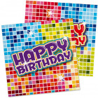 Servilletas cumpleaños Bloques 25x25cm - 16 piezas