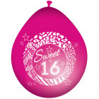 Sweet 16 Pink Balloons - 8 pieces