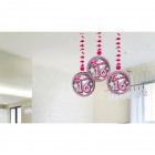 Sweet 16 Hanging decoration - 3 pieces