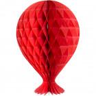 Wabenballon 37cm Rot