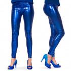 Legging metaliczny niebieski L-XL