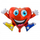 Hart Emoticon Folie/Helium Ballon 90x57cm