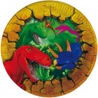 Dinosaur plate - 6 pieces