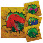 Dinosaur Napkins - 16 pieces